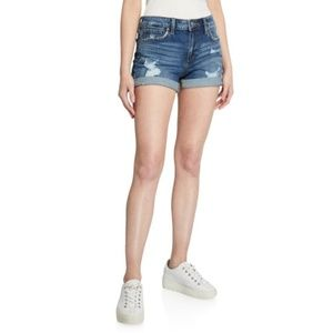 Joes Jeans High Rise Destroyed Single Cuff Shorts